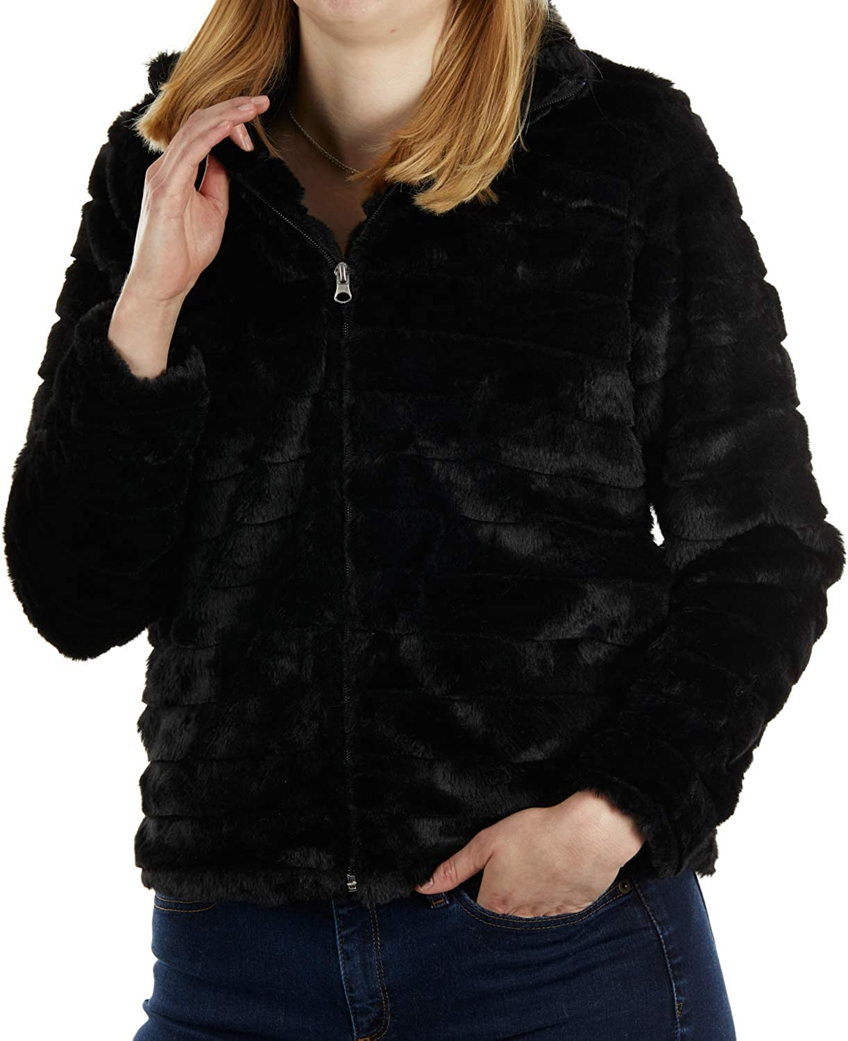 We OFFer at cheap prices KATYDID free Rabbit Faux Fur Jacket Soft Polyester Womens -