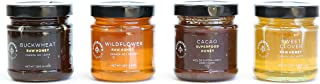 Beekeeper's Naturals Raw Honey Flight | Variety Sampler Gift Set | 125g of 100% Pure, Sustainably Sourced Enzymatic Honey | Gluten Free and Paleo Friendly