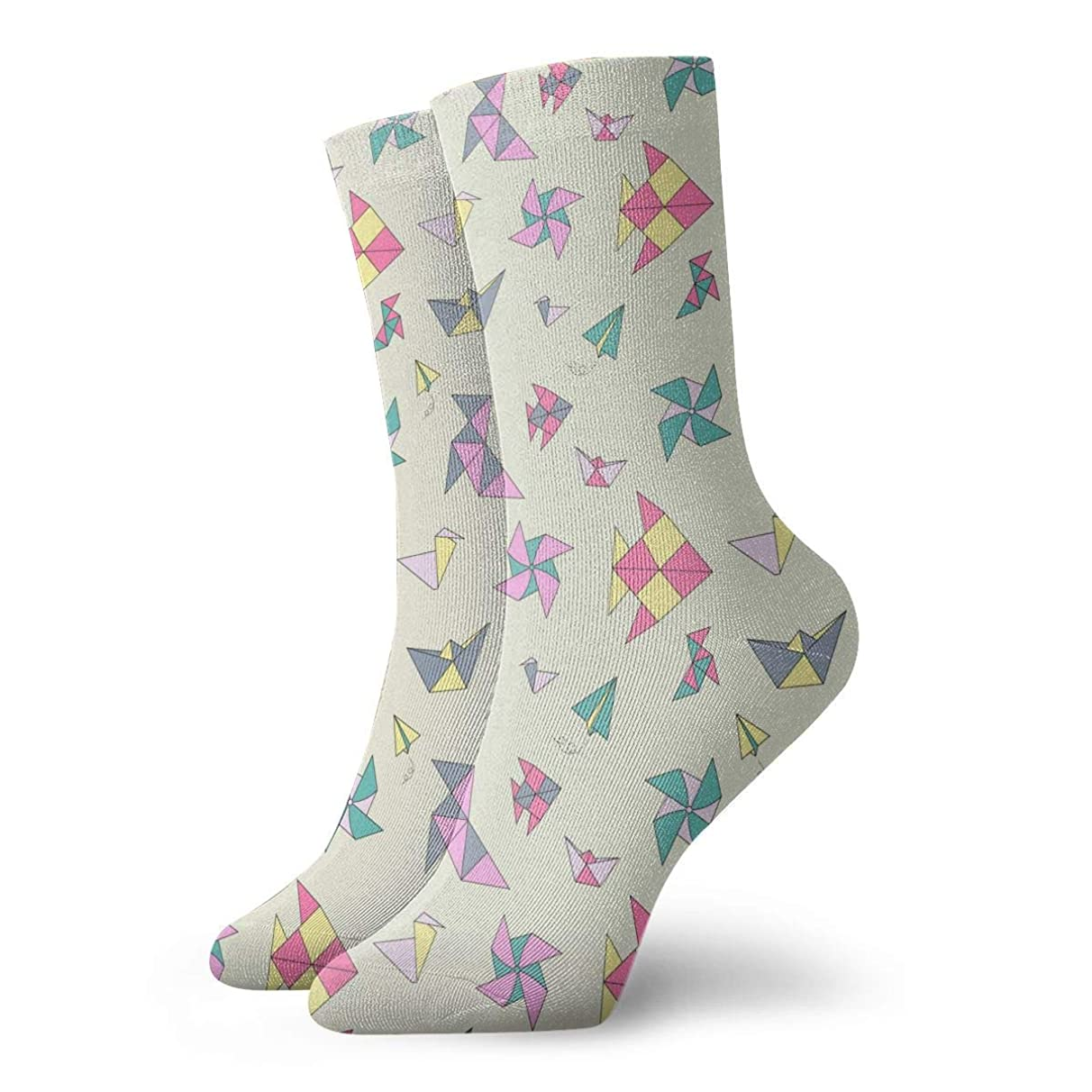 WEEDKEYCAT Windmill and Kite Adult Short Socks Cotton Cute Socks for Mens Womens Yoga Hiking Cycling Running Soccer Sports