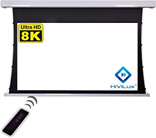 HiViLux Tension Motor Leinwand Dualspann/professionell Kinofolie: HiViWhite Cinema 1,0 / 8K/4K UHD für 3D / 2D / TXN Serie (16:9 Bild:244x137cm 110' Diagonal, Weiss)