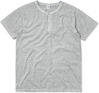 Velva Sheen ベルバシーン 161517 PIGMENT S/S ヘンリーネック Tシャツ MADE IN USA【ネコポス便】