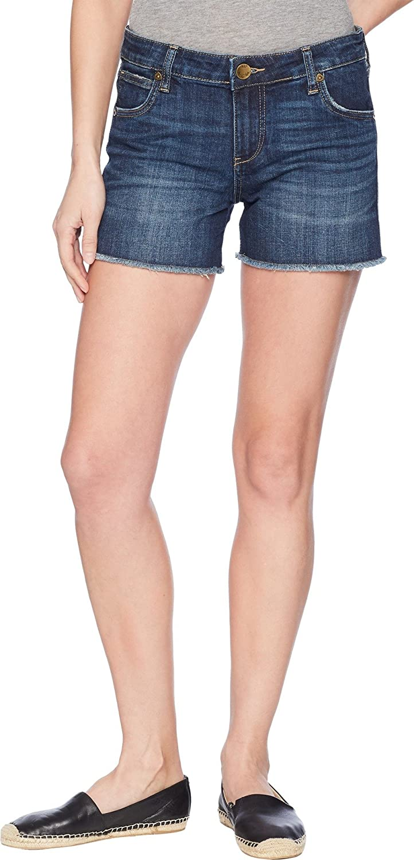 KUT from the Kloth Women's Gidget Fray Shorts in Stimulating/Dark