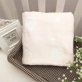 Swaddle Blankets,Bamboo Fiber Cotton Thickened Six Layers of Gauze by Lollipop Baby Blanket Bath Towel Blanket Without Flu...