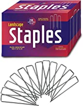 Ashman Garden Landscape Staples Stakes Pins SOD Staples for Weed Barrier Fabric, Ground Cover, Garden Hose, Lawn Drippers,...