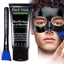 SHILLS Black Mask for Men, Black Mask Purifying Peel Off Mask, Charcoal Mask, Blackhead Removal Mask, Peel Off Face Mask, Charcoal Face Mask and a Brush Set