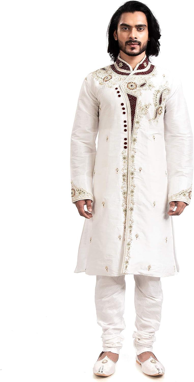 Rajwada Indian Ethnic Design Kurta for Sherwani Men's service 2pc Cash special price Suit