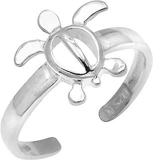 Sterling Silver Turtle Honu Toe Ring