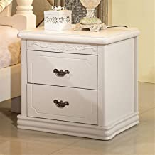 Bedroom Bedside Table Storage Cabinet Small Sofa Side End Table Nightstand for Living Room White 2 Drawer for Living Room ...