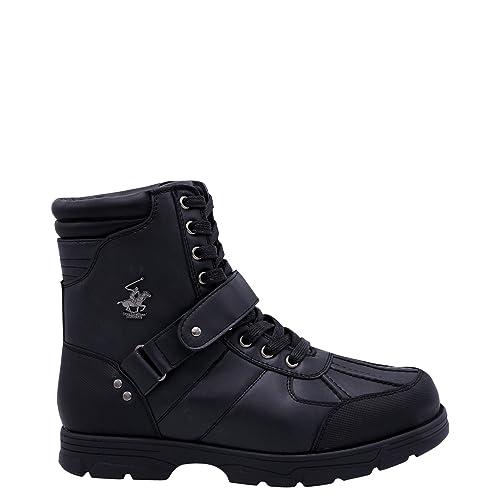 buy popular 6163a a1f5f Beverly Hills Polo Club Mens Ranger Hi Boots Brown Black