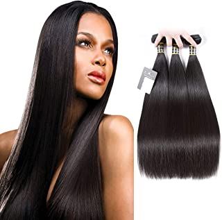 Puddinghair Best Fashion 16 18 20 Inch Brazilian Virgin Silky Straight Weave Human Hair Extensions Natural Color