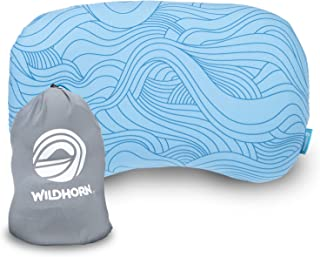 Wildhorn Sage Ultralight Inflatable Camping Pillow - Compact Memory Foam Pillow for Travel