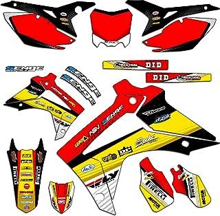 Senge Graphics Kit Compatible with Honda 2013-2018 CRF 125 Riccochet Yellow Graphics kit