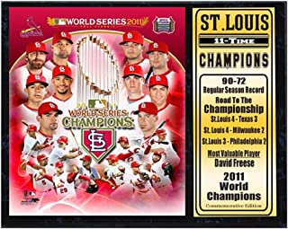 Encore Select 520-38 MLB St. Louis Cardinals 2011 World Series Champion Plaque, 12-Inch by 15-Inch