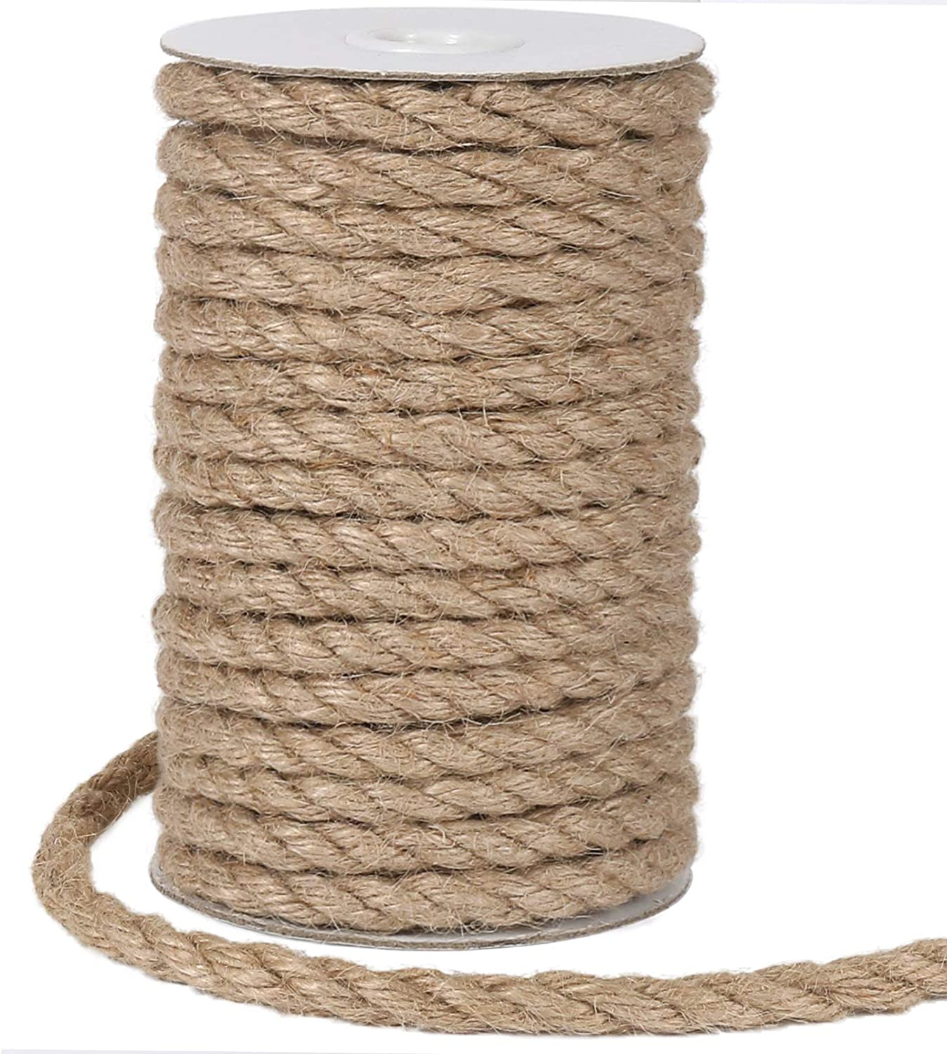 Award Tenn It is very popular Well 8mm Jute Rope 50 Feet J Heavy Natural and Duty Strong
