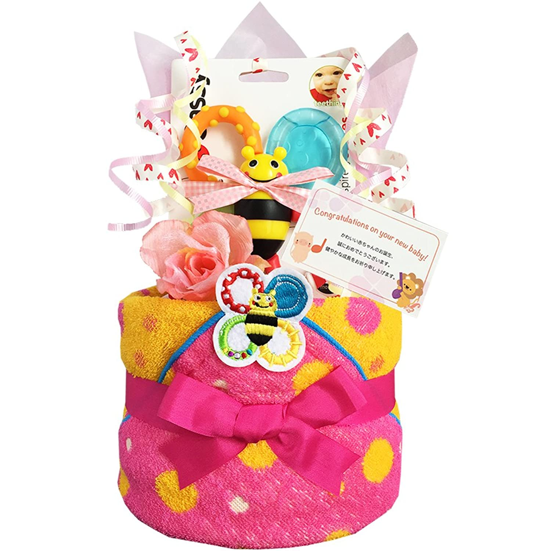 おむつケーキ Sassy サッシー 出産祝い 女の子 1601(出産祝い)