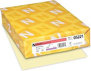 "Neenah Classic Linen Premium Paper, 8.5"" x 11"", 24 lb, Baronial Ivory, 500 Sheets"