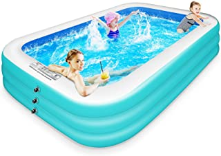 """CHERYLON Inflatable Pool, 120"""" x 72"""" x 22"""" Large Full-Sized Inflatable Swimming Pools for Kids and Adults, Blow up Pool, B..."""