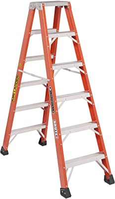 Louisville Ladder L-3431-06MR 6-Feet Twin Front Fiberglass Ladder