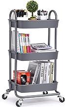 KINGRACK Wózek do przechowywania, wózek na kółkach 3-poziomowy, wielofunkcyjny organizer do przechowywania, wózek organize...