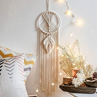 sylhlw dream catcher, handmade owl moon star dream catcher, wall hanging decor home decor, gifts for mom, gifts for friends, gifts for women, christmas, festival decoration (round)