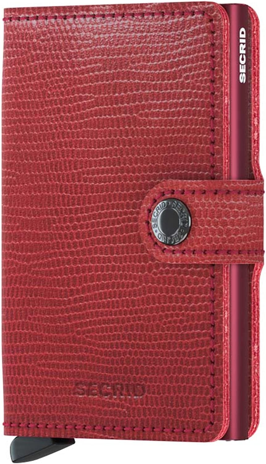 SECRID  Secrid Mini wallet Genuine Leather Rango Red Bordeaux RFID Safe Card Case for max 12 cards