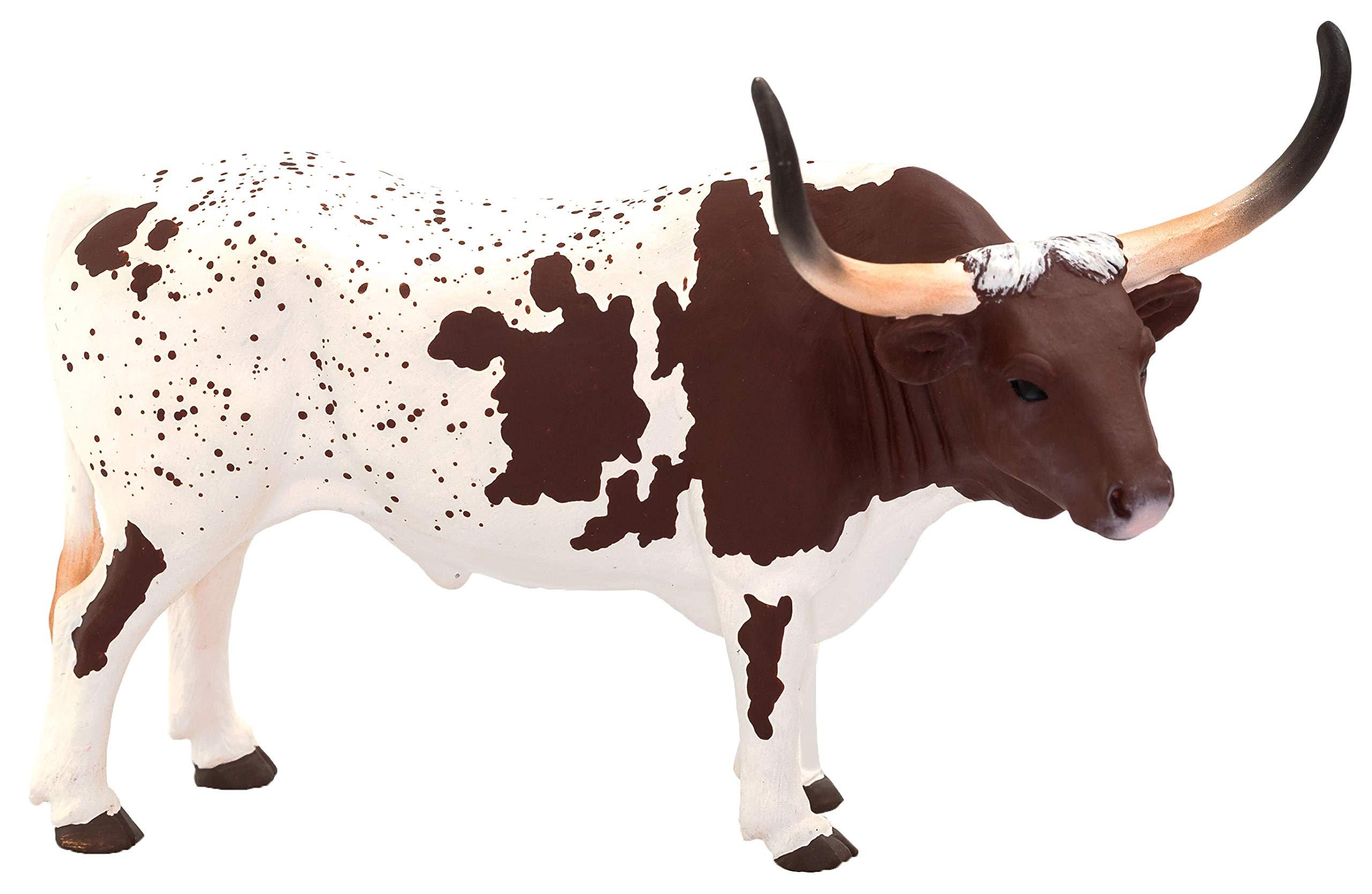 MOJO Texas Longhorn Bull Realistic Farm Animal Toy Replica Hand Painted Figurine