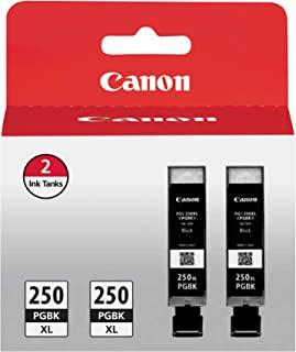 Canon PGI-250XL Pigment Black Ink, Twin Value Pack, Compatible to MG5520, MG6620, MG5420, MG5422, MG5522, MG5620, MG6320, MG6420, MG7120, MG7520, MX722, MX922, iP7220, iP8720, and iX6820