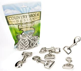10 - Country Brook Design 1 Inch Swivel Snap Hooks