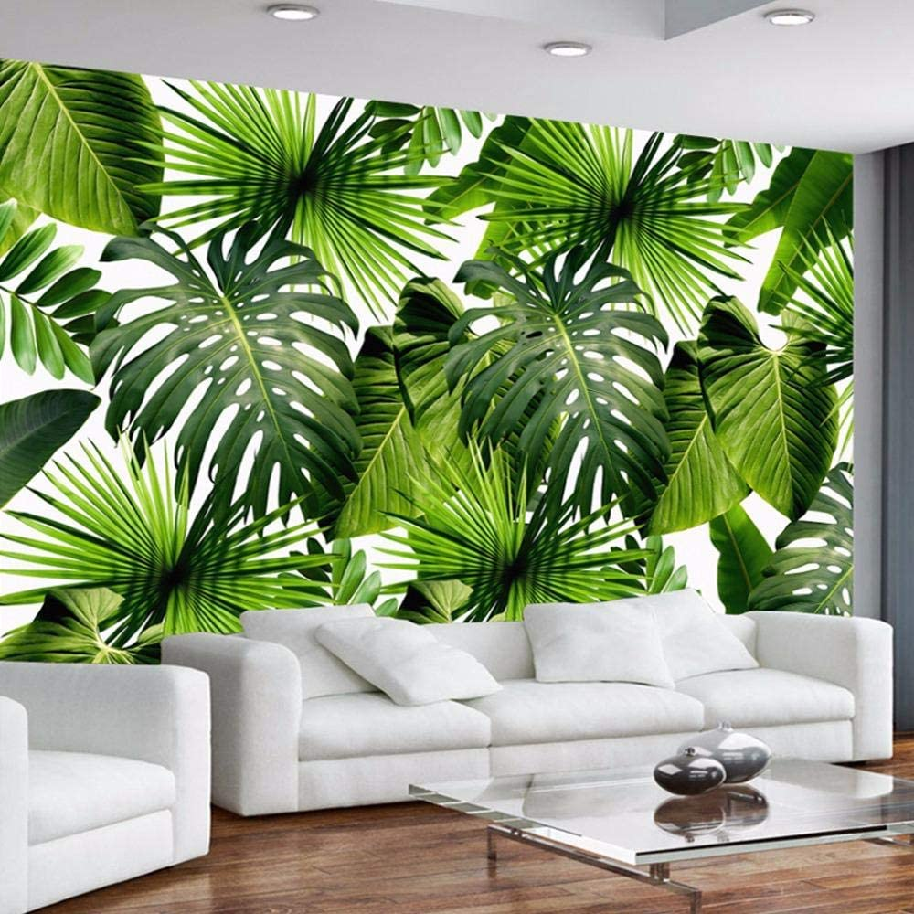 Ansyny Wall Be High quality super welcome Mural Wallpaper Rain Forest 3D Photo Banana Leaf Bac