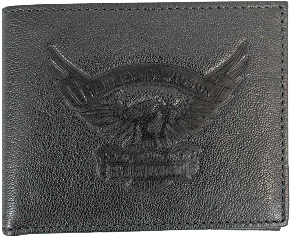 Harley-Davidson Men's Eagle Emboss Billfold ID w Removable Walle Quality inspection Clearance SALE! Limited time!
