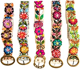 Embroidered Peruvian Andean Floral Wool Belt