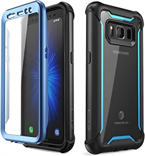 i-Blason Case for Galaxy S8 Active 2017 Release, [Ares] Full-body Rugged Clear Bumper Case with Built-in Screen Protector (Not Fit Regular Galaxy S8/S8 Plus) (Black/Blue)