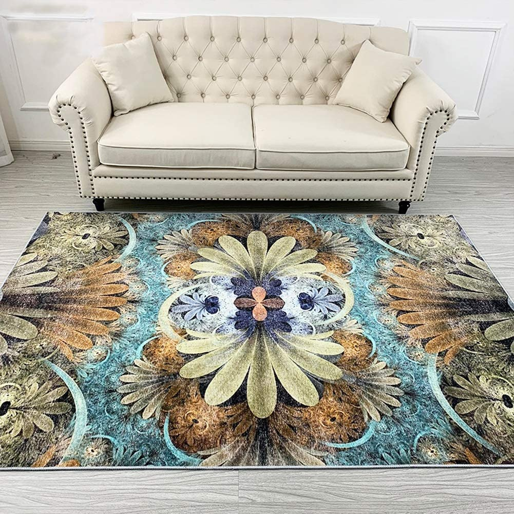 YUXO Selling and selling Max 68% OFF Area Rugs for Living Retro Room Art Jacquard Bohemian