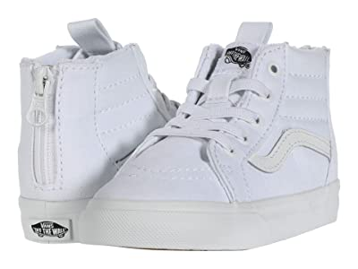 Vans Kids Sk8-Hi Zip (Infant/Toddler) (True White/True White) Kids Shoes