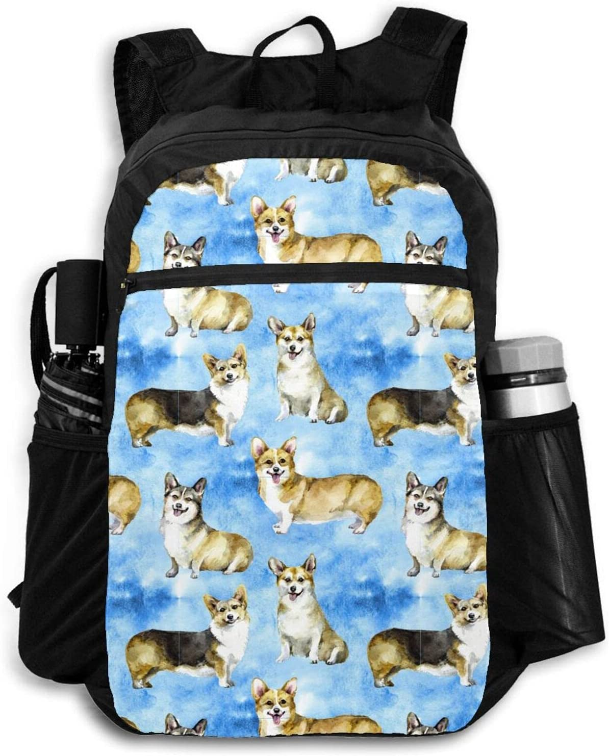 Zolama Corgi Sky Blue Backpacks for Women Cute Phoenix Mall Packable Dayp All stores are sold Men