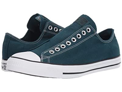 Converse Chuck Taylor All Star Slip-On Sneaker Slip (Midnight Turquoise/Black/White) Shoes