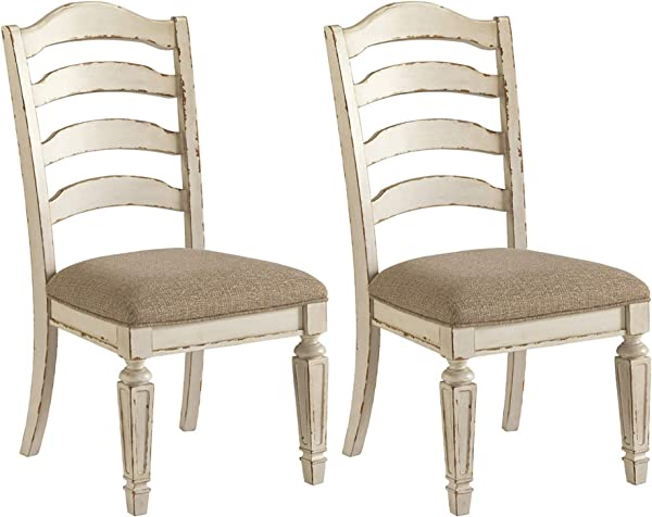 Signature Design By Ashley D743 01 Realyn Dining Room Chair Chipped White