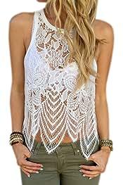 b80310649 Amazon.es: CROCHET MUJER - Blusas y camisas / Camisetas, tops y ...