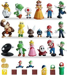 HXDZFX 32 PCS Super Mario Action Figures,Super Mario Bros Toys Figurines Peach Daisy Princess,Luigi,Yoshi,Mario Toys for Boys,Perfect Mario Cake Topper Decorations
