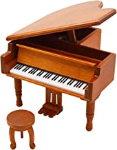 Piano Model Music Box for Music lover Christmas gift (OrangeRed-Piano)