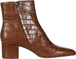 Cognac Croco Print Leather
