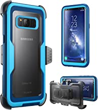 i-Blason Armorbox Series Case for Galaxy S8, [Full Body] [Heavy Duty] Shock Reduction/Bumper Case Without Screen Protector for Samsung Galaxy S8 2017 Release (Blue)