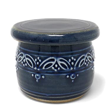 The Potters, LTD French Butter Keeper, True Blue
