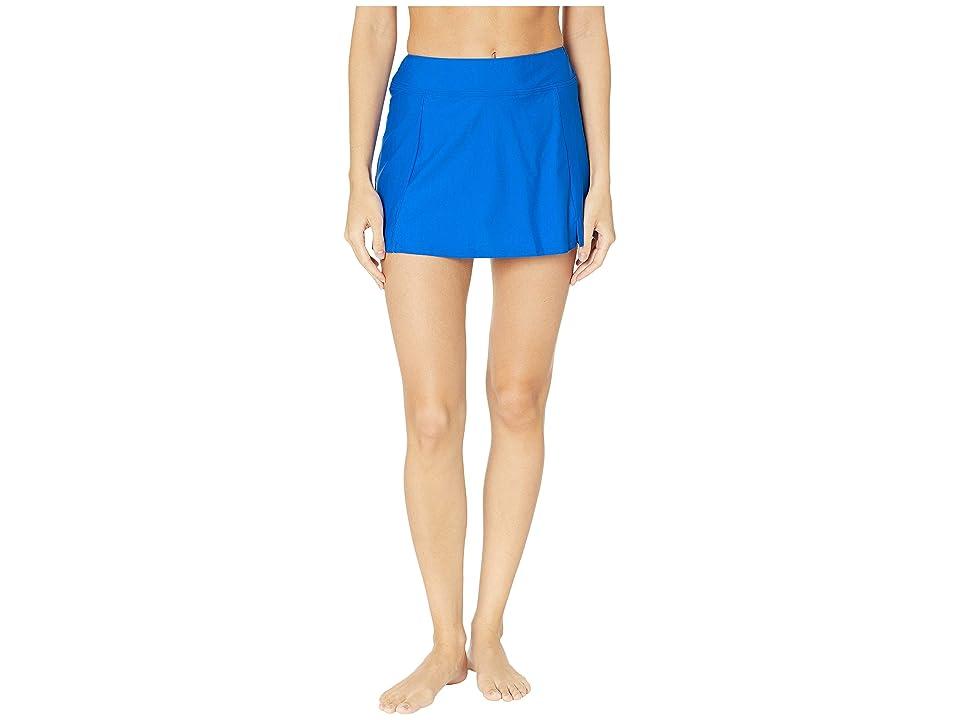 Maxine of Hollywood Swimwear Solids Separate Waist Band Skort Bottoms (Cobalt) Women