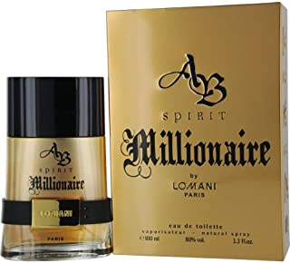Lomani Ab Spirit Millionaire Eau De Toilette Spray for Men, Gold , 3.3 Ounce