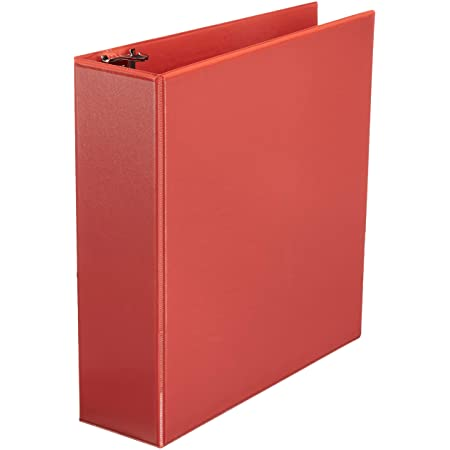 Cardinal Economy 3-Ring Binders White Round Rings ClearVue Presentation View 90631 Holds 350 Sheets Non-Stick 1.5 Carton of 12