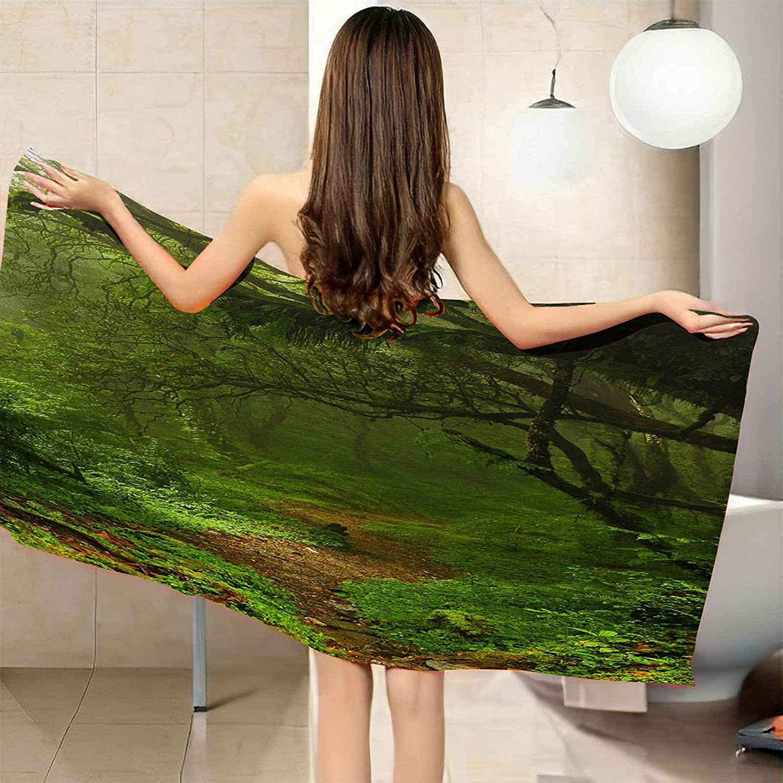 CGBNDS Large Microfiber Beach Towel Green Landscape Trees T Max 90% OFF Brand new Bath