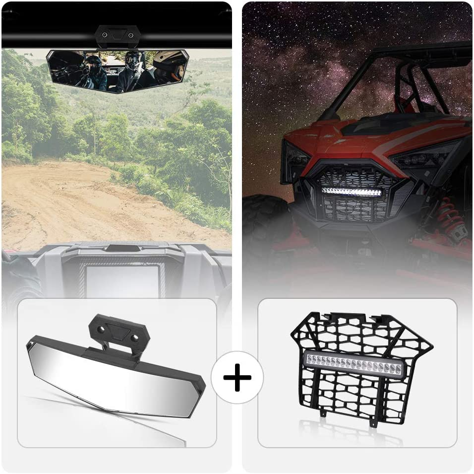 RZR PRO XP Center Rear New popularity View Mirror Super Special SALE held and KEMIMOTO Front Mesh PP Gr