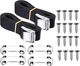 Cooler Tie-Down Strap Kit Buckle Lashing Straps 22 Pieces for YETI RTIC Coolers Keep Coolers and Prevent Skids in Ship Deck Truck Chassis Trailers