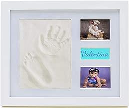 Feewerain 5 Handprint Empreinte B/éb/é Cadre Photo Kit Tout-Petit Handprint Cadre Photo du Nouveau-N/é Empreinte Cadre Photo B/éb/é Douche Cadeau Keepsake Blanc Boue